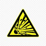 Warning sign Vector illustration. Explosive Warning sign. Hazard symbols Royalty Free Stock Photos