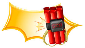 An explosive weapon with a timer Royalty Free Stock Photography