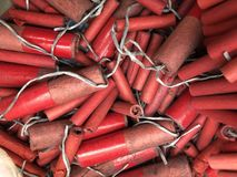 Explosiver Kracher-Hintergrund Stockfotografie