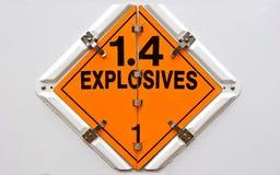 Explosives. Hazmat placard for transportation vehicles Stock Images