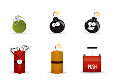 Explosives. Vector Icon Set 1 Stock Illustration