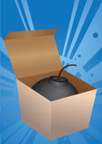 Explosives in a box. Vector illustration. Explosives in a box Stock Image