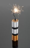 Explosives from cigarettes Stock Photos