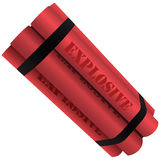 Explosives. Curb of several elements. Vector illustration Stock Image