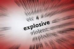 Explosivo Fotografía de archivo libre de regalías