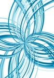Explosivo azul abstrato Fotografia de Stock Royalty Free