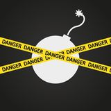 Explosivo de la cinta del peligro del ejemplo del vector Stock de ilustración