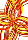 Explosivo vermelho abstrato Imagens de Stock Royalty Free
