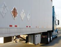 Explosivos de transporte por caminhão Imagem de Stock Royalty Free