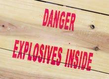 Explosivos del peligro Fotografía de archivo libre de regalías