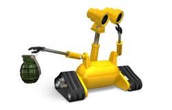 Explosivos que seguram o robô Fotos de Stock