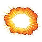 Explosão alaranjada Foto de Stock Royalty Free