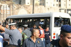 Explosão de bomba libanesa Fotos de Stock Royalty Free