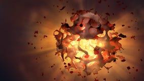 Explosão grande do estrondo Fotografia de Stock Royalty Free