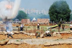 Explosure на поле битвы Стоковые Фото