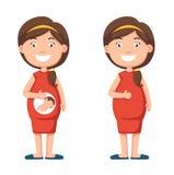 Explotación agrícola de la mujer embarazada su panza libre illustration