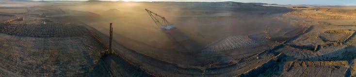 Explotación del cabón en cielo abierto foto de archivo