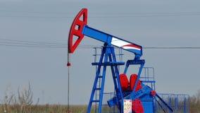 Explotación del petróleo crudo almacen de video