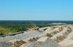 Explotación minera a cielo abierto Fotos de archivo