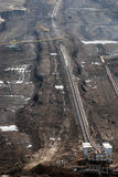 Explotación minera a cielo abierto del carbón foto de archivo