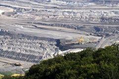 Explotación minera a cielo abierto del lignito Imagen de archivo libre de regalías
