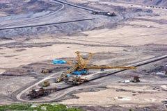 Explotación minera a cielo abierto del lignito Imágenes de archivo libres de regalías
