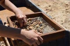 Explotación minera de la gema imagen de archivo libre de regalías