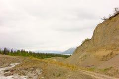 Explotación minera de placer en Canadá septentrional imágenes de archivo libres de regalías