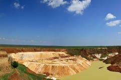 Explotación minera del caolín Imagen de archivo