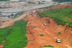 Explotación minera del lignito Imagenes de archivo