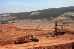 Explotación minera del lignito Foto de archivo libre de regalías