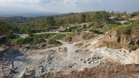 Explotación minera local de la roca y de la arena Imagen de archivo
