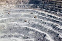 Explotación minera y planta de tratamiento Foto de archivo