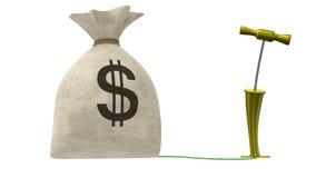 Explotar el bolso del dinero Máscara alfa libre illustration