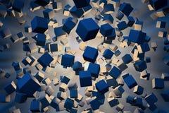 Explotion de cubos abstractos Fotografía de archivo