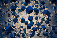 Explotion de cubos abstratos Fotografia de Stock