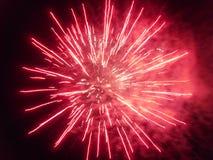 Explotion dei fuochi d'artificio fotografie stock