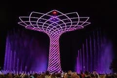 EXPO 2015 - δέντρο της ζωής Στοκ εικόνα με δικαίωμα ελεύθερης χρήσης