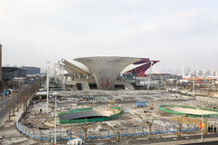 Expo 2010: canteiro de obras Foto de Stock