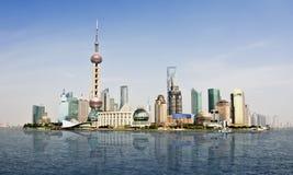 Expo 2010 do mundo da skyline de Shanghai Fotos de Stock Royalty Free