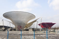 Expo 2010: main entrance under construction Royalty Free Stock Images