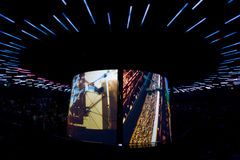 Expo 2010 Shanghai-Australia Pavilion. Discover features a 1000 seat theatre screening a multi-media show that explores the country's culture inside Australia Stock Photos