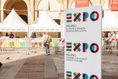 Expo 2015 milan. Advert for milan expo 2015 in bologna Royalty Free Stock Image