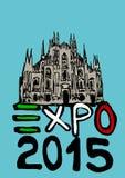 Expo 2015 stock de ilustración