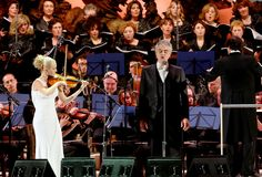 Expo 2015:  Andrea Bocelli sing in concert Royalty Free Stock Photography