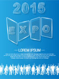 Expo 2015 annual event advresting glass. For web Royalty Free Stock Images