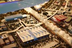 EXPO-AXIS,Expo 2010 Shanghai China. ,Model royalty free stock image