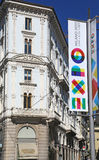 Expo 2015 banner in Milan, Italy Stock Photo