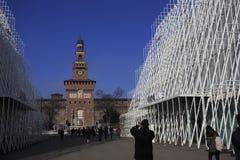 EXPO brama w Milano 2015 Obraz Stock