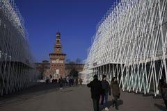 EXPO brama w Milano 2015 Obrazy Stock